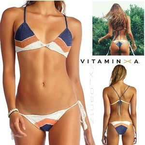 New Vitamin A Crochet bikini set swimsuit  L XL